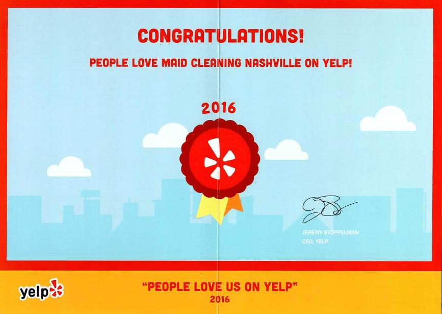People Love us on Yelp Award 2016